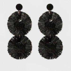 BaubleBar Black Fringe Earrings